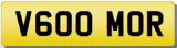 MORGAN V6 Private Cherished Registration Number Plate MORGAN MOOR MOORE MOR
